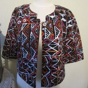 Laru Lane 12P 12 petite 3/4 length sleeve jacket